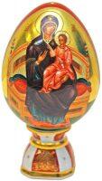 """Фарфоровое яйцо на подставке  Императорский фарфоровый завод """"Всецарица"""""""