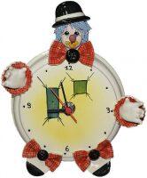 "Часы круглые  Zampiva ""Клоун в чёрной шляпе"""