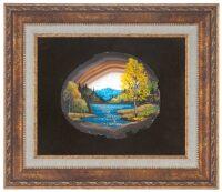 """Картина на агате """"Ранняя осень"""""""