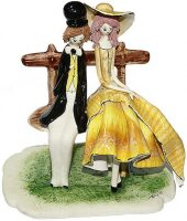 """Скульптура  Zampiva """"Пара сидящая на скамейке"""""""