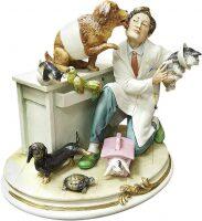 """Статуэтка  Porcellane Principe """"Ветеринар"""" , цвет: разноцветный"""
