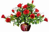 """Цветы керамические """"Бордовые розы"""""""