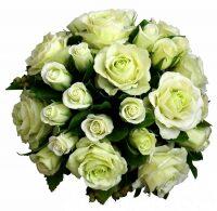 """Цветы керамические """"Белые розы и смородина"""""""