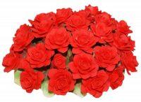 Декоративная корзина с розами, красная Artigiano Capodimonte