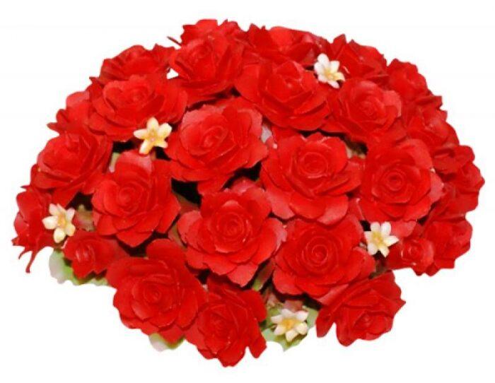 Декоративная корзинка с розами, красная Artigiano Capodimonte- 0