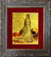 Ваша фотография на сусальном золоте