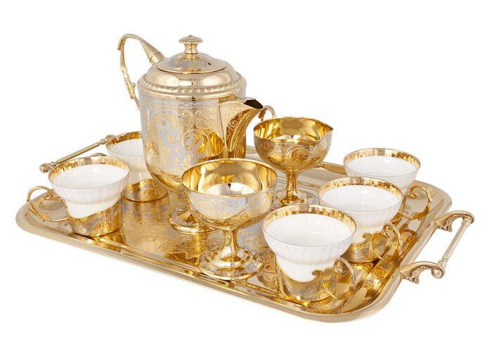"""Чайный сервиз """"Изящество"""" на 6 персон (Златоуст)- 0"""
