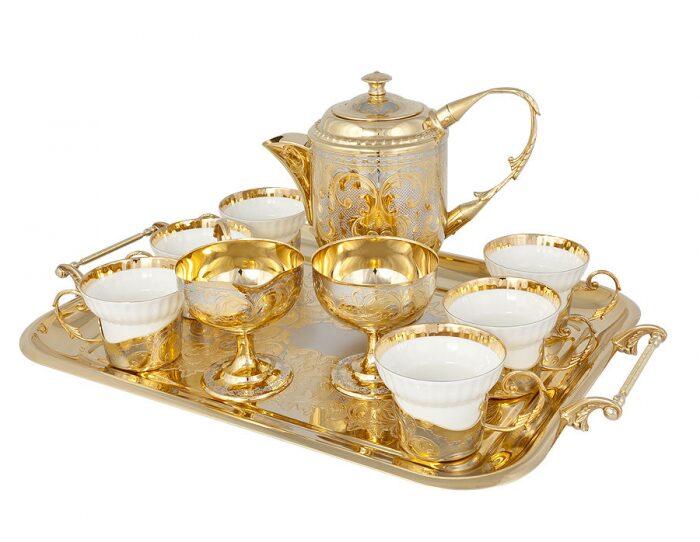 """Чайный сервиз """"Изящество"""" на 6 персон (Златоуст)- 1"""