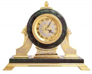 Часы каминные (нефрит)