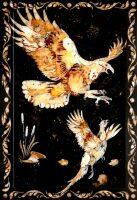 """Нарды из янтаря """"Охота на фазана"""""""