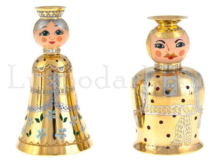 """Набор рюмок для водки """"Парочка"""" (Златоуст)- 0"""