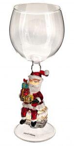 "Бокал для вина ""Санта с подарками"""