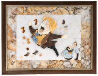 """Картина на мраморе """"Шарж на Баскова"""""""