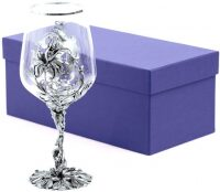 """Бокал для вина """"Цветок"""", посеребрение"""