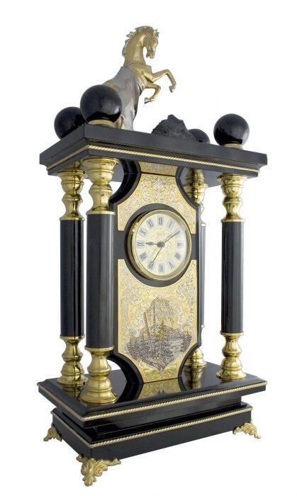 """Каминные часы """"Златоуст"""" долерит- 0"""
