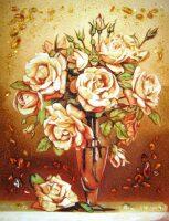 "Картина из янтаря ""Букет роз"""