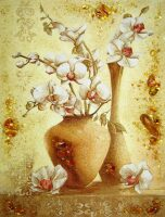 "Картина из янтаря ""Орхидеи"""