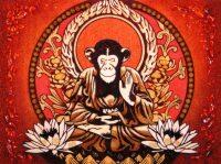 "Картина из янтаря ""Год обезьяны"""