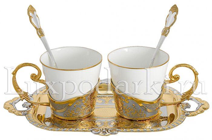 """Кофейный набор """"Черный кофе"""" на 2 персоны (Златоуст)- 0"""
