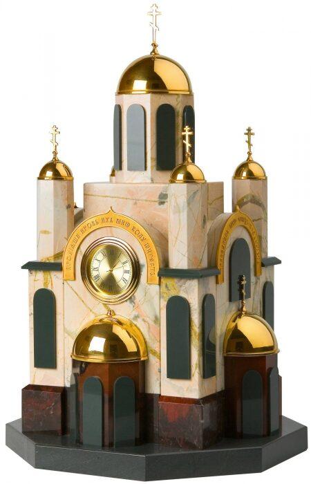 """Каминные часы """"Храм""""- 0"""