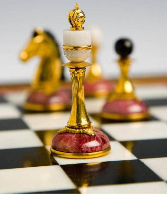 """Шахматы из родонита """"Классические плюс""""- 1"""