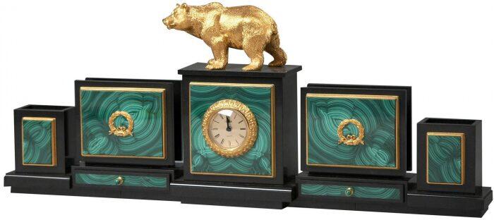 """Настольный набор из камня """"Медведь""""- 1"""