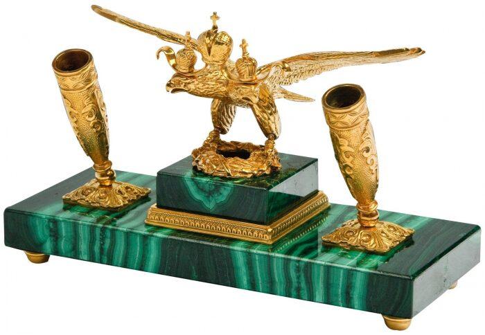 """Письменный набор из камня """"Двуглавый орёл""""- 0"""