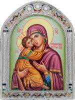 Владимирская икона Божией Матери малая арка (финифть)