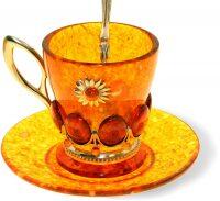 """Кофейный набор из янтаря """"Солнышко"""""""