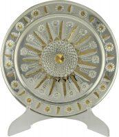 Поднос серебряный с эксклюзивной алмазной гравировкой