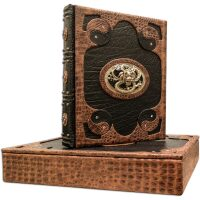 """Книга в кожаном переплете """"Мудрость Конфуция"""" (Laccato python)"""