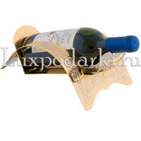 Подбутыльник с бутылкой вина