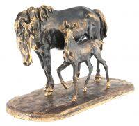 """Скульптура из бронзы """"Лошадь с жеребенком"""" большая"""