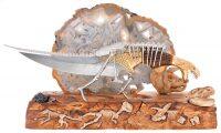 """Нож с подставкой """"Конец эры динозавров"""""""