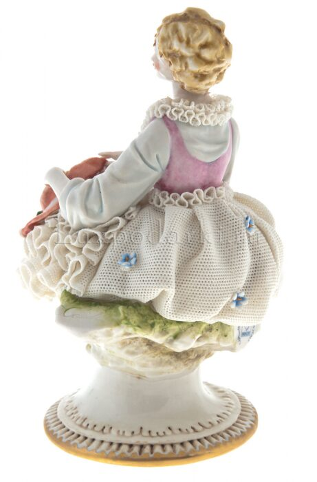 "Статуэтка  Porcellane Principe ""Дама со шляпкой"" - 1"