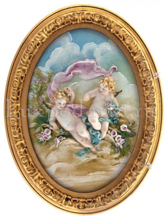 """Барельеф  Porcellane Principe """"Ангелочки с розами"""" - 0"""
