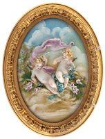 """Барельеф  Porcellane Principe """"Ангелочки с розами"""""""