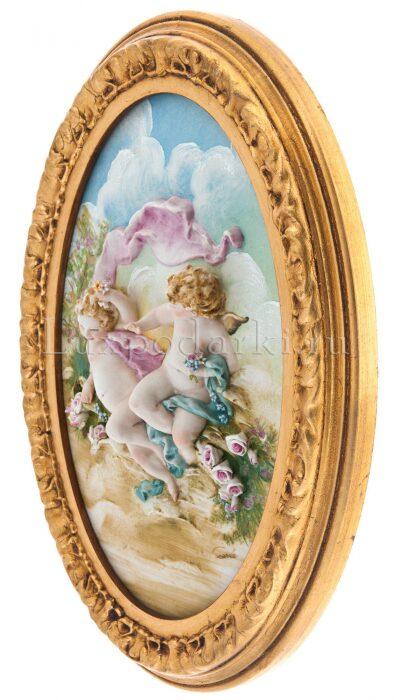 """Барельеф  Porcellane Principe """"Ангелочки с розами"""" - 1"""