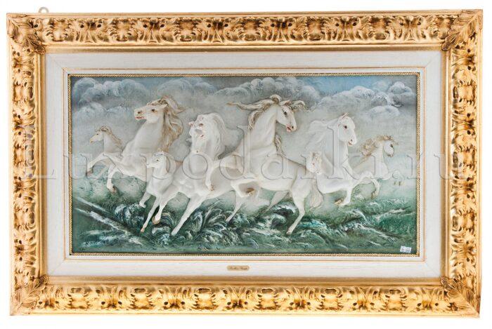 """Барельеф  Porcellane Principe """"Бегущие кони"""" - 0"""