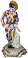 """Скульптура  Elite & Fabris """"Арлекин""""  разноцветная"""