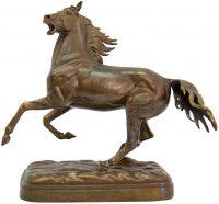 """Скульптура """"Вздыбленный конь"""" большой"""