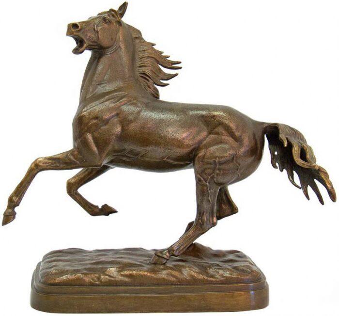 """Скульптура бронзовая """"Вздыбленный конь"""" большой- 0"""