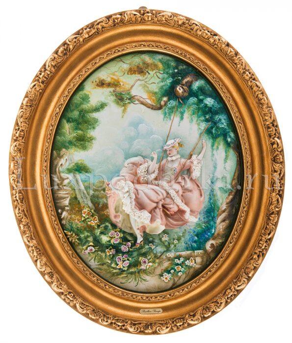 """Барельеф  Porcellane Principe """"На качелях"""" - 0"""