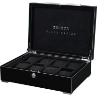 Шкатулка для 8 часов Black Series Watch case Black Benson