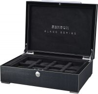 Шкатулка для 8 часов Black Series Watch case Carbon Benson
