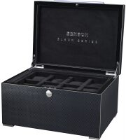 Шкатулка для 16 часов Black Series Watch case Carbon Benson
