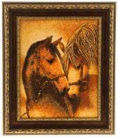 "Картина из янтаря ""Любовь"" (лошади)"