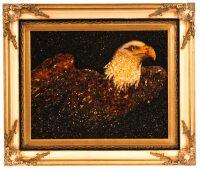 """Картина из янтаря """"Свобода"""" (орел)"""