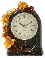 """Часы каминные из янтаря """"Флора"""""""