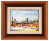 """Панно """"Кремлевская стена. Зима"""" (финифть)"""